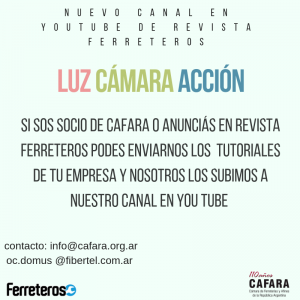 NUevo Canal de You Tube de Revista Ferretoer